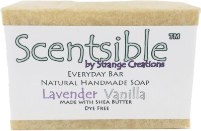 Everyday Natural Handmade Bar Soap - Lavender Vanilla Scented - Made with Shea Butter - Dye Free