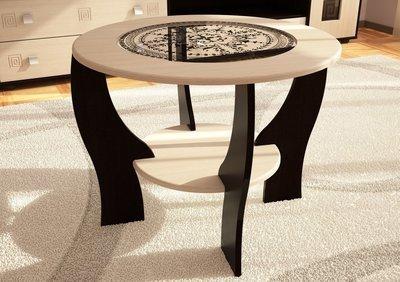 Журнальный стол №1 с круглым стеклом (685х540х685)