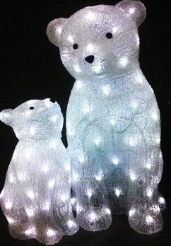 Акриловая светодиодная фигура Медведи