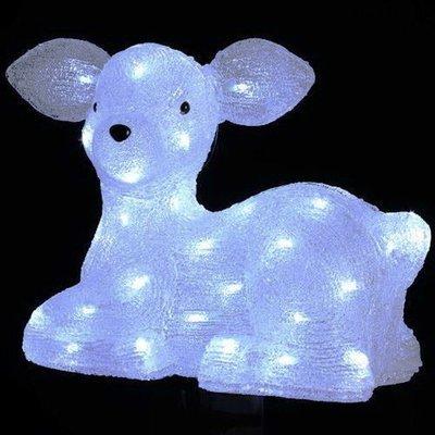 Акриловая светодиодная фигура Молодой олень 30см