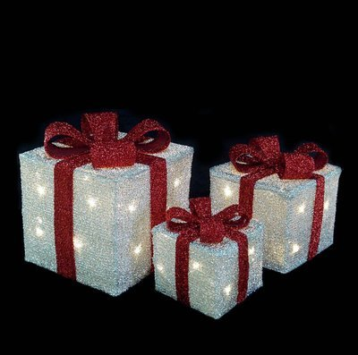 Акриловый светодиодный Подарок 20см