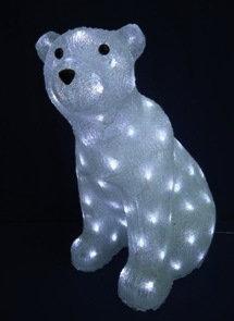 Акриловая светодиодная фигура Медведь 55см