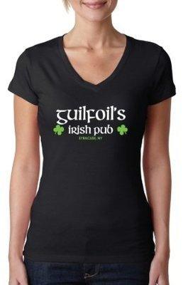 Black Guilfoil's Logo V-Neck
