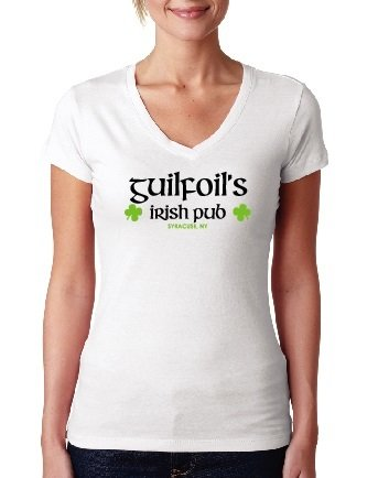 White Guilfoil's Logo V-Neck 00004