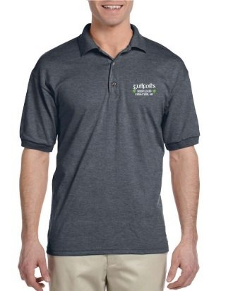 Unisex Gray Guilfoil's Logo Polo