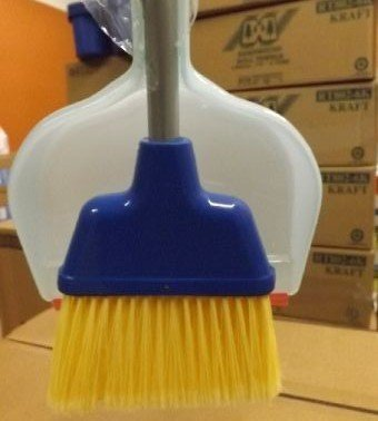 Broom Angle with clip on dust pan