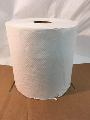 Paper Towel Roll 800' 6 Rolls  White Hard Wound