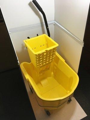 Mop Bucket & Wringer 35 qt Yellow SidePress