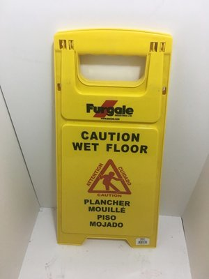 Sign - Caution Wet Floor ENG/FR/SPA