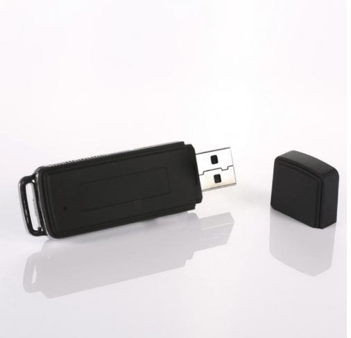 2pcs 8GB Keychains Digital Voice Recorder USB Flash Drive Black