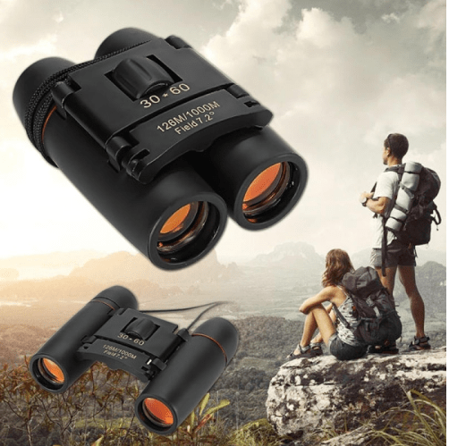 6pcs 30 x 60 126X 1000m High Power Folding Binoculars Telescope - Black