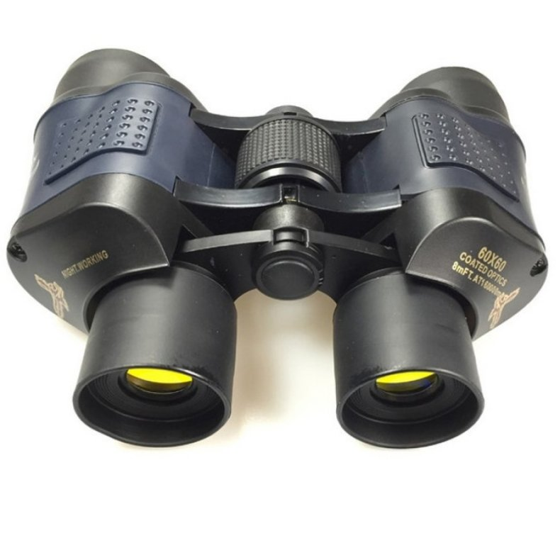 60X60 HD 3000M Observation Optical Green Film Binoculars - Black TM86022226