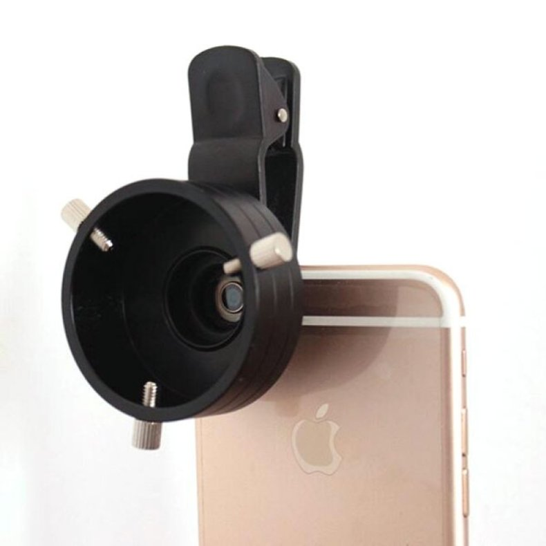43.5mm Telescope Adapter Cellphone Lens Monocular Binoculars Mount w/ Clip Dia TM86013024