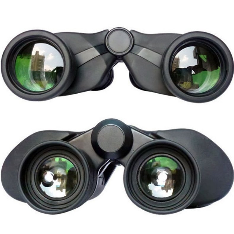 HD 8 x 40 Wide Angle Powerful Zoom Long Range Folding Binoculars Telescope Black