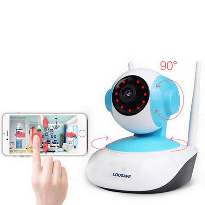 720P HD 1MP WIFI Indoor Surveillance IP Night Vision Camera w/ EU Plug
