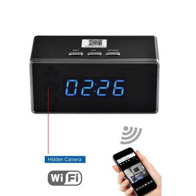Spy HD 1080P Wireless WiFi Hidden Security Camera Clock US plug Black TM86030616