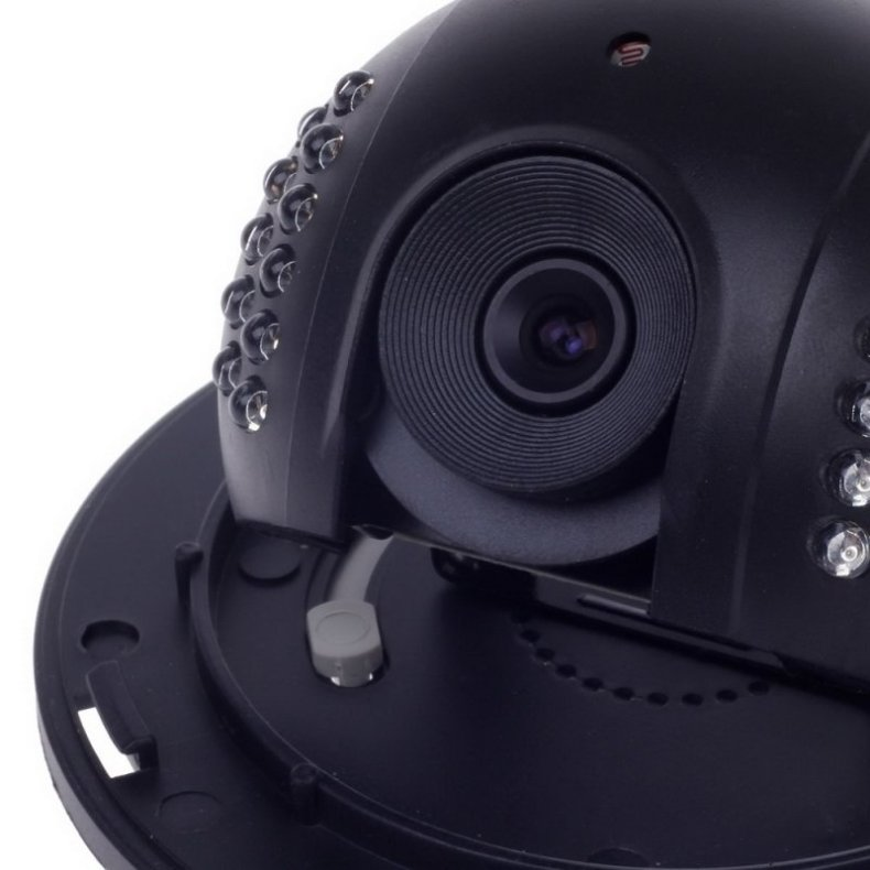 "1/3"" CCD 600TVL Surveillance Dome Camera with 22-IR LED White + Black Paisan PS-3428CF"