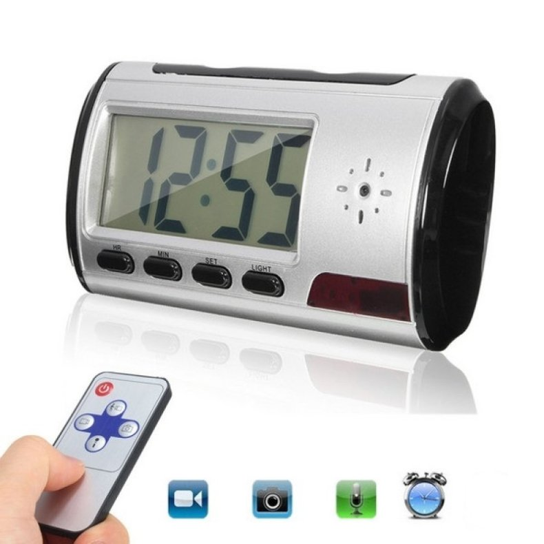 Hidden Camera Alarm Clock Micro Nanny Cam Motion Detection Mini DV DVR Video TM86032666