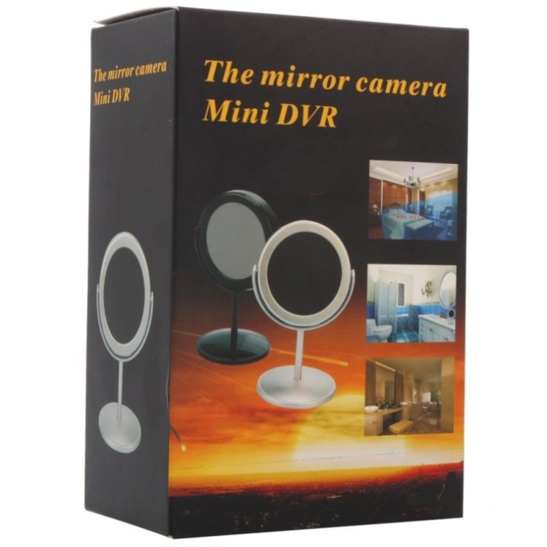 C100 5.0MP HD Hidden Mirror Camera Video Recorder w/ Motion Detection