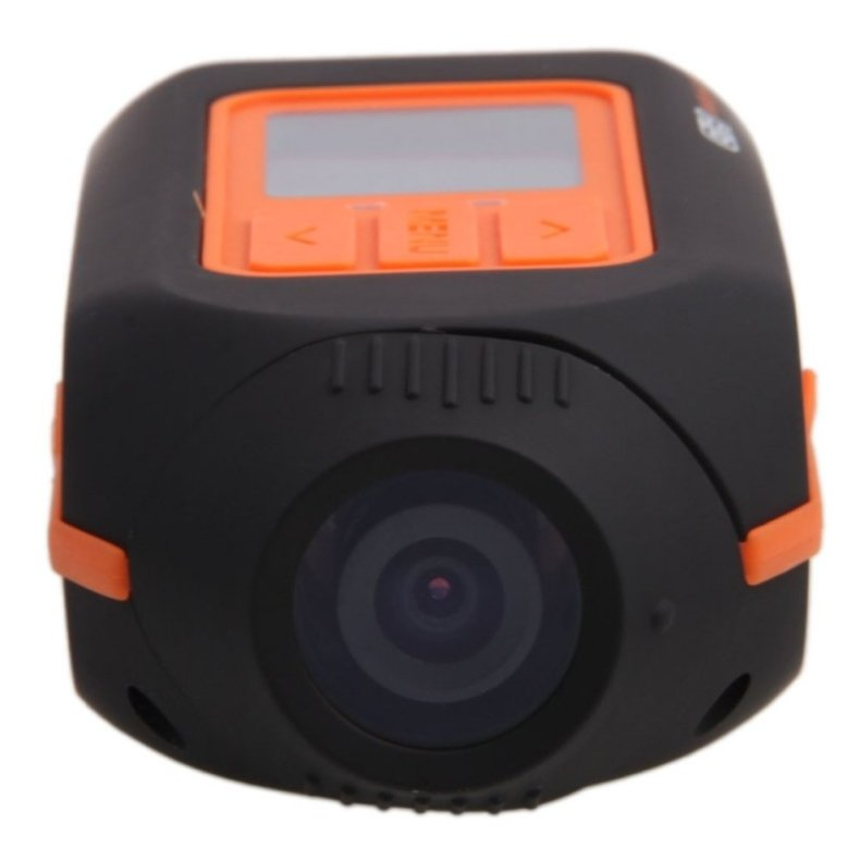 HD 1080P Outdoor Sports Helmet Camera DV Black & Orange HD119