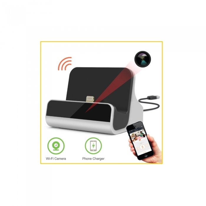 Dock Charger Wi-Fi Camera w/8GB Card - Android