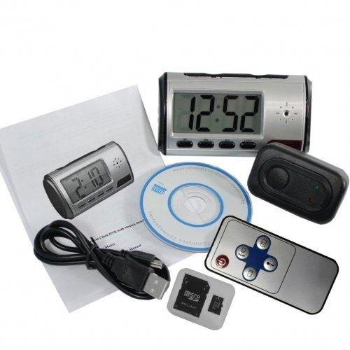 Digital Alarm Clock DVR with motion detector 4GB