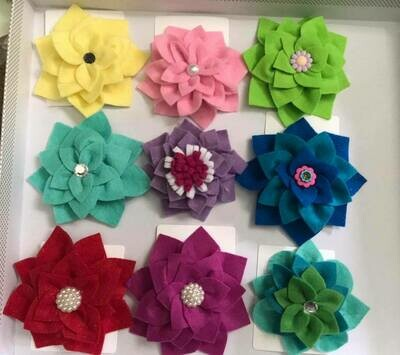 Felt Flower Hairclips
