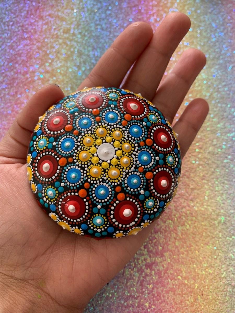 Handmade hand-painted Mandala Blissful