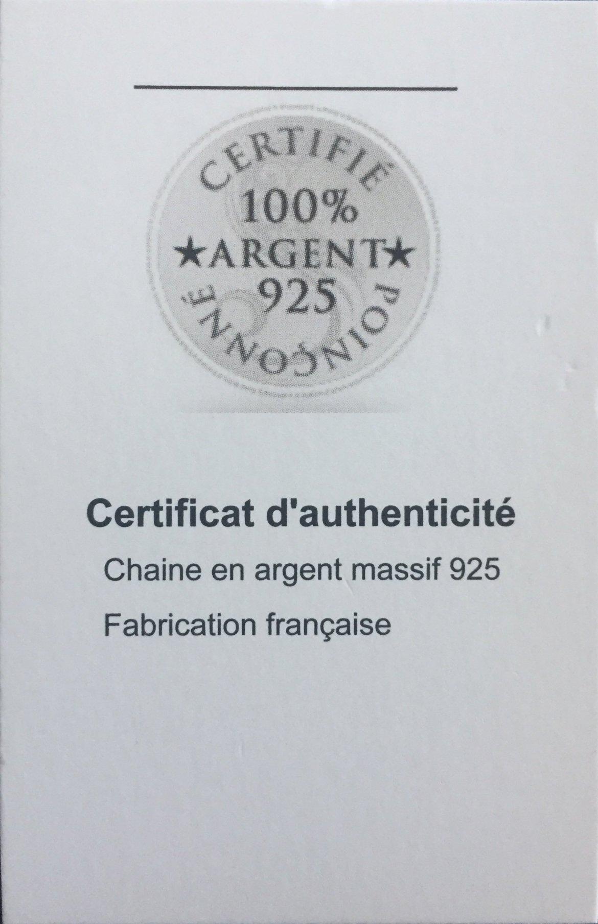 certificatd'authenticité