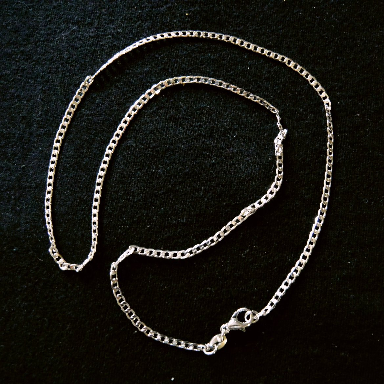 chaine argent 45 cm