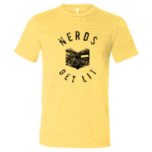 Pale Yellow Nerds Get Lit Shirt Medium 00027