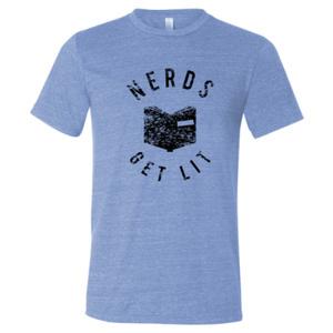 Blue Nerds Get Lit Shirt Large 00029