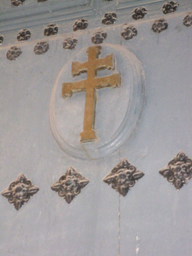 Twin-armed cross in the church at Caravaca