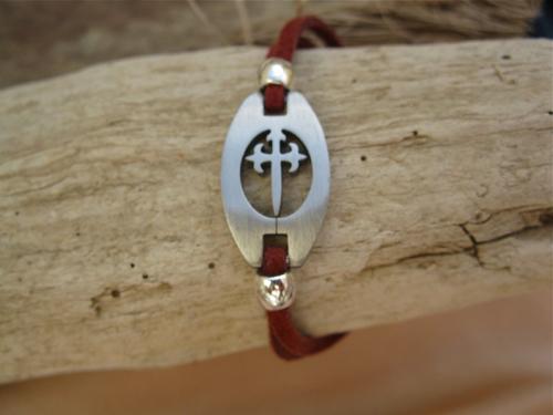 Gift this pilgrim bracelet with symbolic St James cross