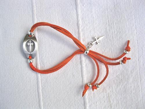 Orange Compostela bracelet