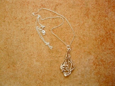 Indalo pendant necklace ~ abstract silver sails