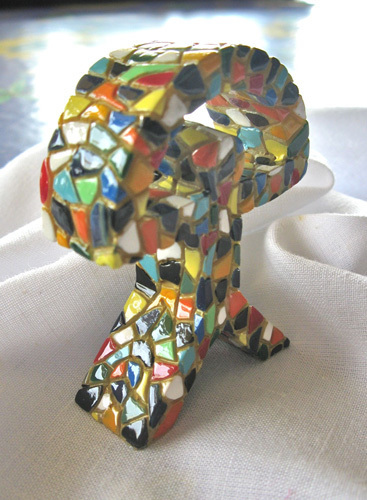 Colourful pieces of mosaic