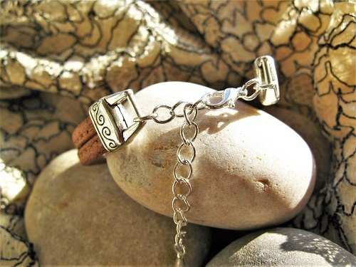 Bracelet length is adjustable with the extender chain