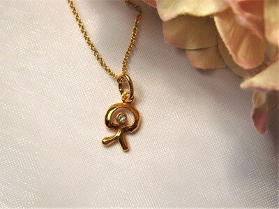 Indalo necklace ~ tiny sparkle,  gold-filled