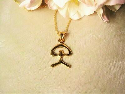 Indalo Man necklace ~ gold-filled, modern