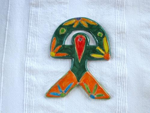 Spanish ceramic Indalo talisman