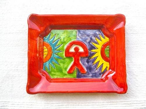 Spanish ceramic dish/ashtray ~ Indalo russet