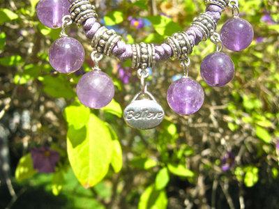 Amethyst BELIEVE jewellery set