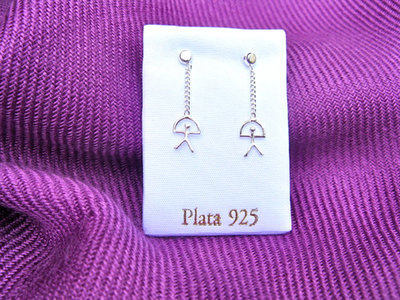 Lucky Indalo chain earrings ~ silver