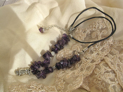 Amethyst wise owl necklace