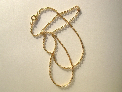 Trace chain - gold plated