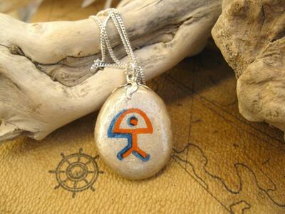 Charm necklace - pebble, Indalo PEACE