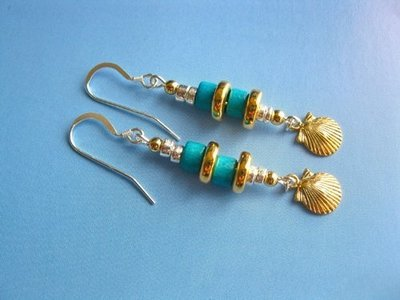 Camino de Santiago jewelry scallop shell earrings