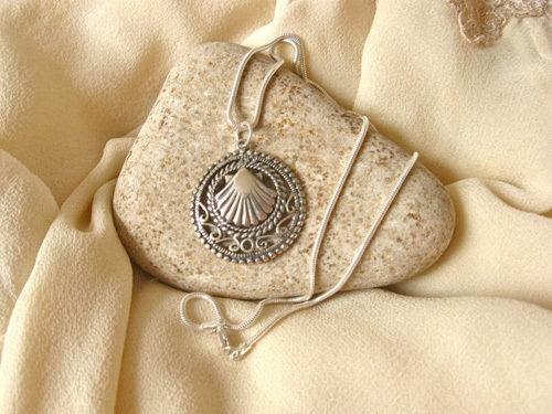Way of St James Santiago necklace ~ filigree ATA01180