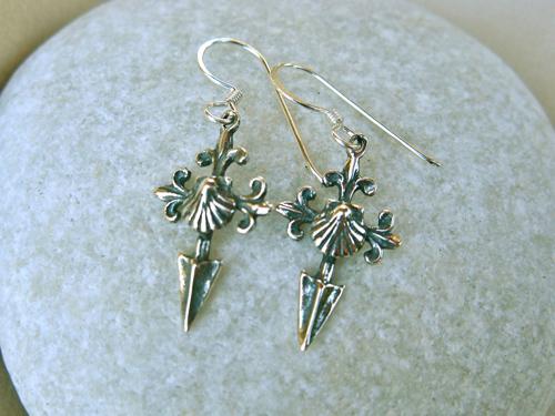 Saint James cross Camino earrings ~ ideal safe travel gift ATA00810